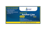"3/8"" x 150' White 3 Strand Twisted Nylon Anchor Line -   Sold Individually"
