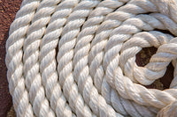 "1/2"" x 15' White 3 Strand Twisted Nylon Dock Line - For Boats up to 35' -  Sold Individually"