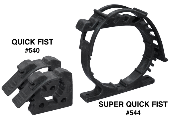 Super Quick Fist C Clamp (2 Pack) for Home, Garage, Boat, RV, Fire Extinguishers, D-Size Oxygen Cylinders & 7″ CO2 Tanks