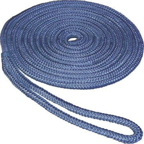 SeaSense Double Braid Nylon Dock Line, 1/2-Inch X 35-Foot, Blue