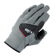 Gill Long Finger Deckhand Sailing Gloves - Large - Gray