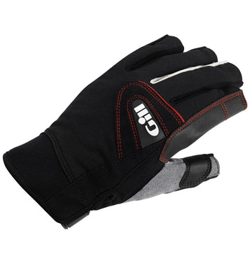 Gill Short Finger Championship Gloves - Extra Large Black & Gill Race Cap 2017 - Graphite Bundle (2 Items)