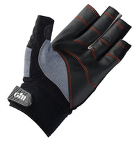 Gill Short Finger Championship Gloves - Small Black/Gray & Gill Race Cap 2017 - Graphite Bundle (2 Items)