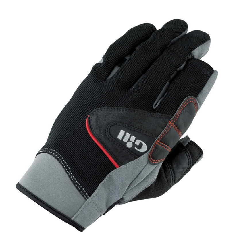 Gill Long Finger Championship Gloves - Medium - Black/Gray