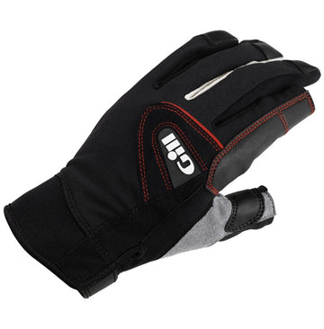 Gill Long Finger Championship Gloves - Small Black 2017 Model & Gill Race Cap 2017 - Graphite Bundle (2 Items)