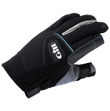 Gill Women's Long Finger Championship Gloves - Medium - Black/Gray