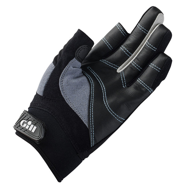Gill Women's Long Finger Championship Gloves - Large - Black/Gray