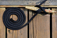 "3/8"" x 15' - Black - Double Braided Polypropylene Dock Line - For Boats up to 25' - Sold Individually"