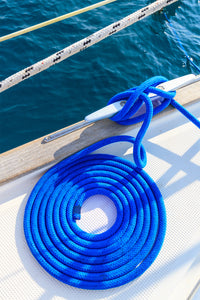 "3/8"" x 15' Marine Blue - (2 Pack) - REFLECTIVE Double Braided  Nylon Dock Line - For Boats up to 25'"