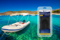 6' Bungee Dock Line - Black - Stretches to 9' - Ideal for Boats, PWC, Jet Ski, Dinghy, Kayak & Pontoon up to 4000#