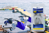 6' Bungee Dock Line - White - Stretches to 9' - Ideal for Boats, PWC, Jet Ski, Dinghy, Kayak & Pontoon up to 4000#