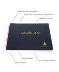 Direct 2 Boater Elegant Blue Hard Bound Cruise Log Book with Place Marker & Pen Holder Great Gift Item 100 Pages