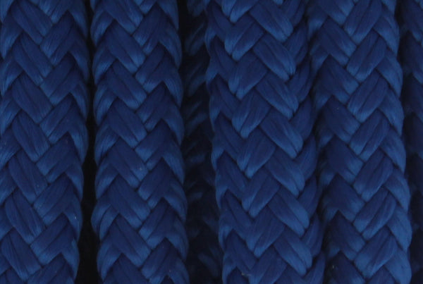 "3/8"" x 25' - Royal Blue - (2 Pack) - Double Braided 100% Premium Nylon Dock Line  - 12"" Eye - For Boats up to 25'"