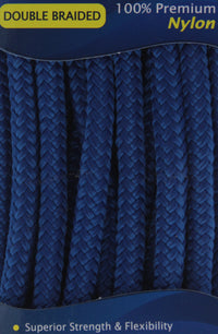 "3/8"" x 10' - Royal Blue - (2 Pack) - Double Braided 100% Premium Nylon Dock Line - 12"" Eye - For Boats up to 25'"