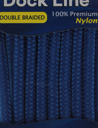 "1/2"" x 35' - Royal Blue - Double Braided 100% Premium Nylon Dock Line - 12"" Eye - For Boats Up to 35'"