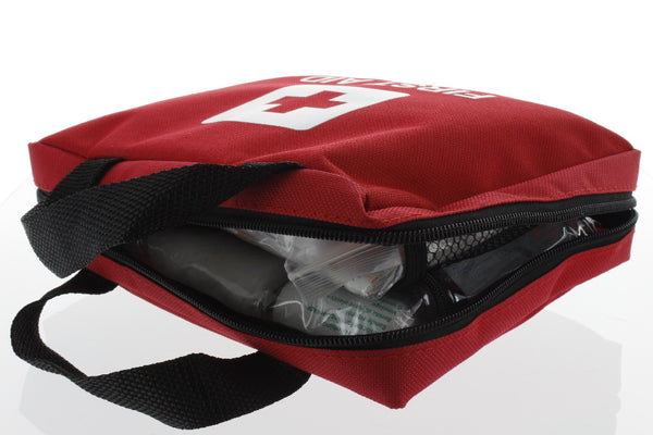 First Aid Kit for Home, Car or Office - 210 Emergency Prepared Essential Items - Zippered Red Carrying Case