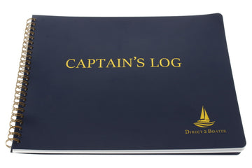 Direct 2 Boater Blue Spiral Bound Captain's Log Book with Flexible Cover 100 Pages
