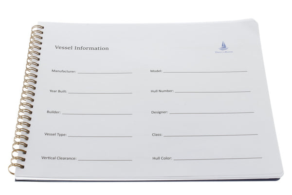Direct 2 Boater Blue Spiral Bound Maintenance Log Book with Flexible Cover