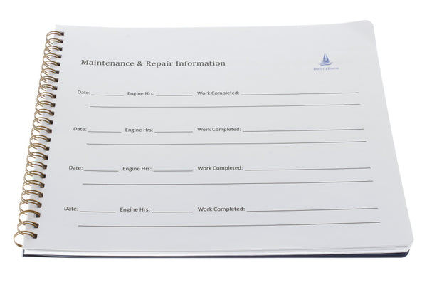 Maintenance Log Book - Spiral Bound Book with Flexible Cover, 100 Pages - Ideal Maintenance Record Book & Gift