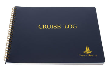 Direct 2 Boater Spiral Bound Cruise Log Book with Flexible Cover, 100 Pages