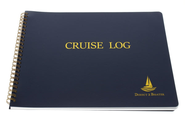 Direct 2 Boater Spiral Bound Cruise Log Book with Flexible Cover