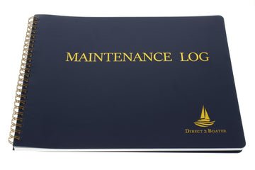 Direct 2 Boater Blue Spiral Bound Maintenance Log Book with Flexible Cover, 100 Pages