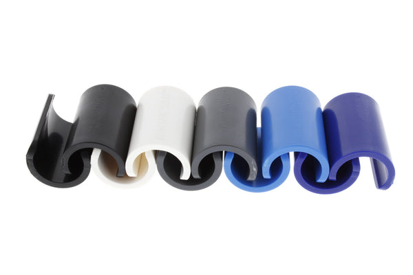 "Bimini Boat Clips - Multi Color Clips (20 Pack) - Fits 7/8"" Round Tubing White, Black, Grey, Navy & Blue (4 ea) - Towel"