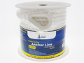 "1/2"" x 100' White 3 Strand Twisted Nylon Anchor Line -   Sold Individually"