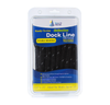 "1/2"" x 25' Black REFLECTIVE Double Braided Poly Dock Line  - For Boats up to 35' - Sold Individually, Case Pack = 4"
