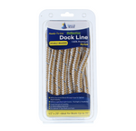 "1/2"" x 20' Gold/White - (2 Pack) - REFLECTIVE Double Braided Nylon Dock Line - For Boats up to 35'"