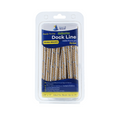 "3/8"" x 15' Gold/White REFLECTIVE Double Braided Nylon Dock Line - For Boats up to 25' - Sold Individually"