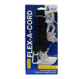 "Flex-A-Cord - 12"" Length - Black Nylon with Stainless Steel Clips  - 10x Stronger than Bungee Cords"