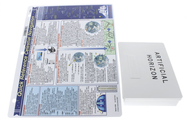 Davis Artificial Horizon & Celestial Navigation Quick Reference Chart (2 Items)