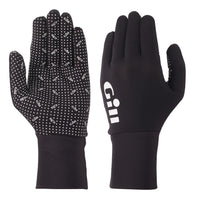 Gill Flexible Performance Fishing Gloves - Medium Size - Black - Ideal for Cool Weather