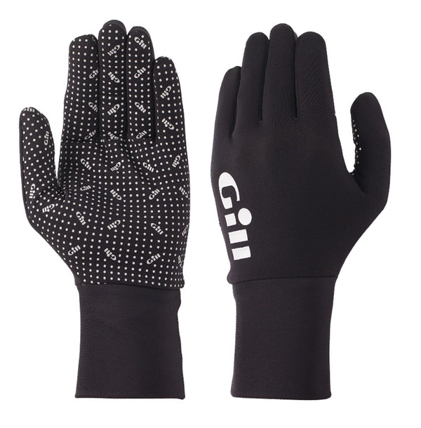 Gill Flexible Performance Fishing Gloves - Small Size - Black - Ideal for Cool Weather