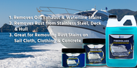 Fiberglass Stain Remover Gel 12 oz Jar FSR Cleaner, FSR Boat Cleaner, FSR Stain Remover, FSR Gel, Rust Remover for Boats