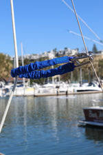 "Flex-A-Cord - 18"" Length - Blue Nylon with Stainless Steel Clips  - 10x Stronger than Bungee Cords"