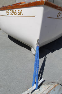 "Flex-A-Cord - 24"" Length - Blue Nylon with Stainless Steel Clips  - 10x Stronger than Bungee Cords"