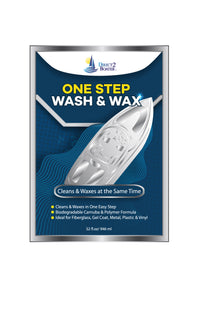 One Step Wash & Wax for Boats, Autos & RV's 32 fl oz Cleans & Waxes at the Same Time - Safe Biodegradable Formula
