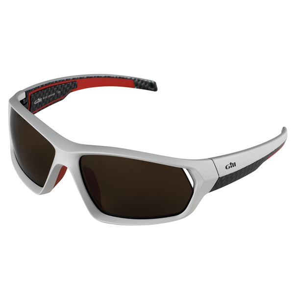 Gill Floatable Race Sunglasses with 100% Glare Free Polarized Lenses - Silver Color