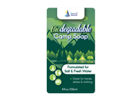 Biodegradable Camp Soap - 8 oz - For Fresh & Salt Water - For Hands, Dishes & Clothing - Unscented Liquid Camp Soap