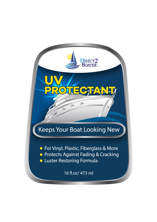UV Protectant Spray for Vinyl, Plastic, Rubber, Fiberglass, Gel Coat & More - 16 fl oz Luster Restoring Formula