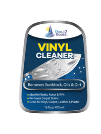 Vinyl Cleaner for Autos, Boats & RV's - Great for Vinyl, Carpet, Leather & Plastic - 16 fl oz By Direct 2 Boater