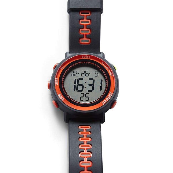 Gill Sailing Race Watch - Graphite and Tango - Water Resistant to 30M - Shock and Impact Resistant