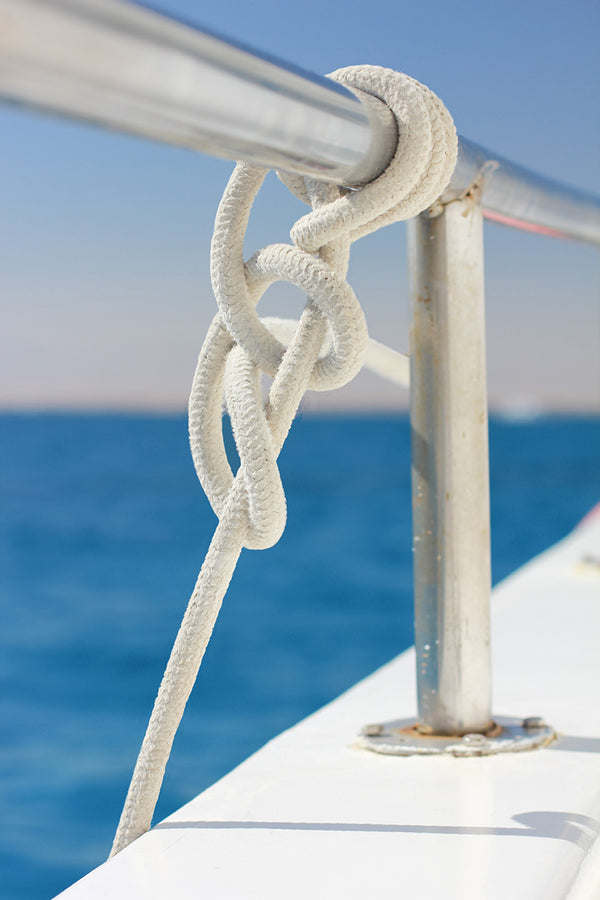 "3/8"" x 25' - White - Double Braided Nylon Dock Line - For Boats Up to 25' - Sold Individually"