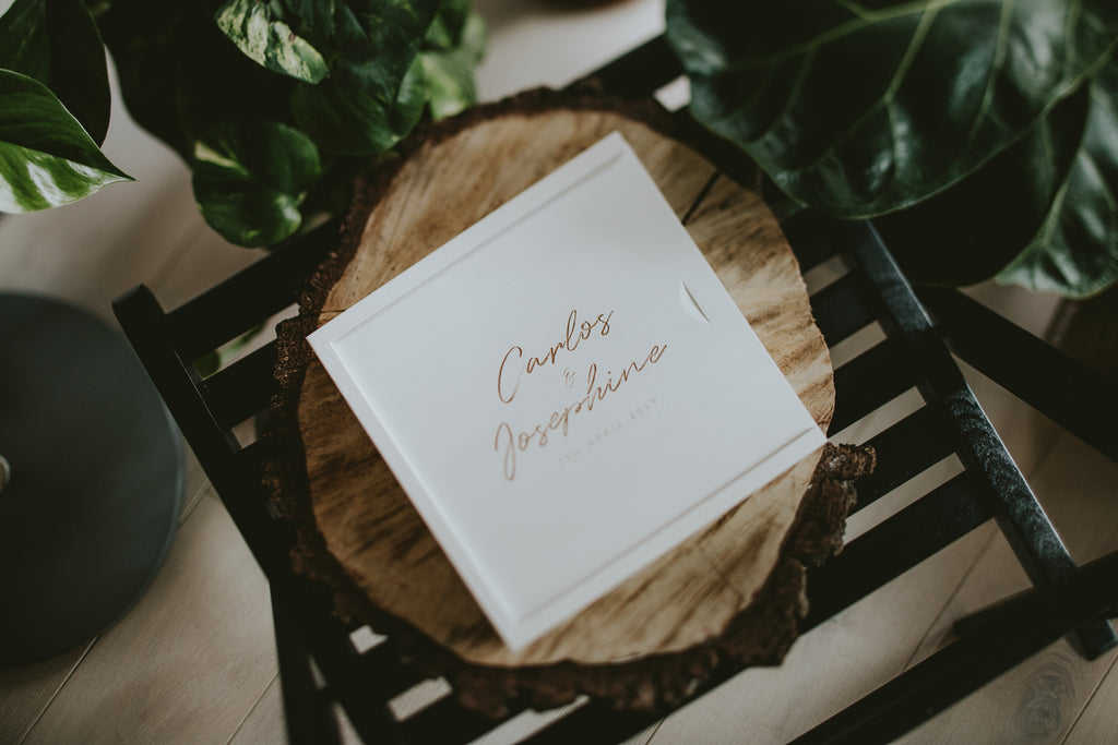 white packaging for wedding photographers