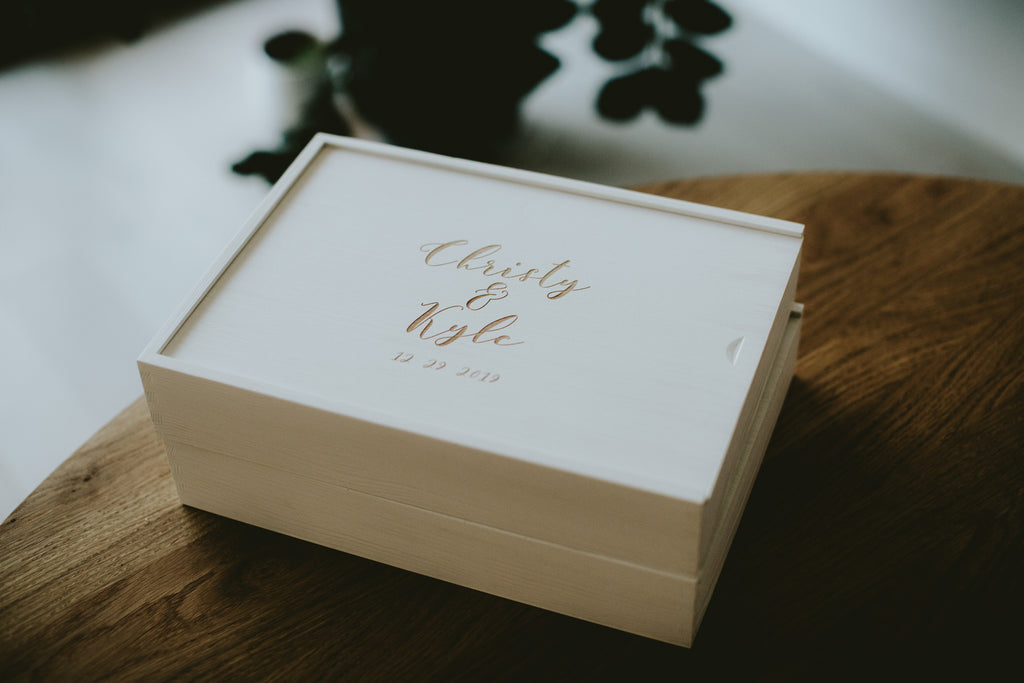large wooden boxes for prints