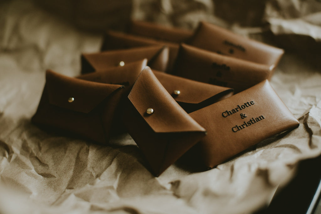 vegan leather usb pouches for wedding photographers