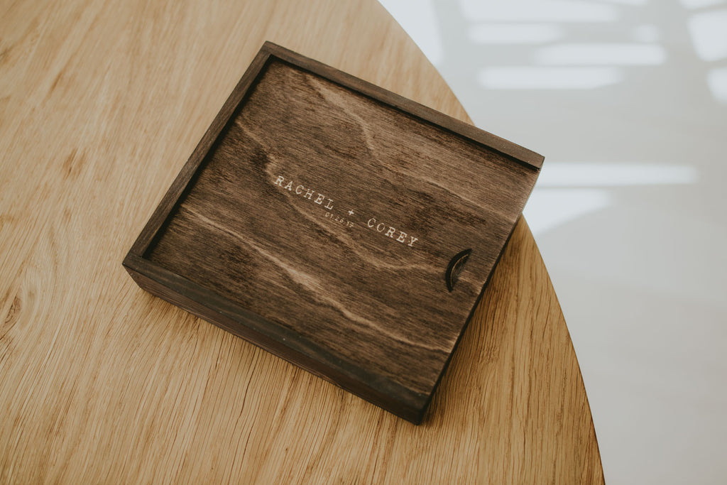 wooden box for wedding photographers