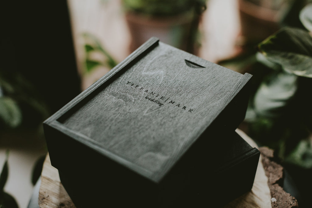 black wooden box for prints